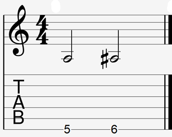 Guitar interval example 1
