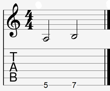 Guitar interval example 2