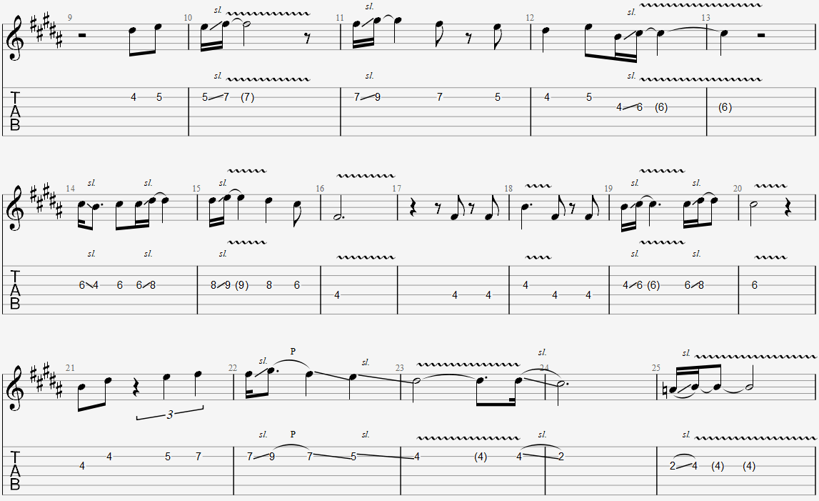 A section melody