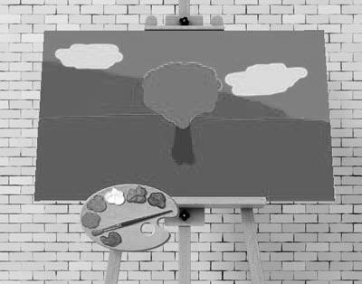 Grey painting