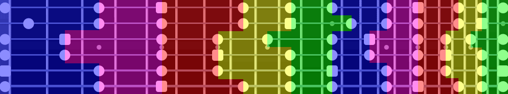 Pentatonic scale shape zones
